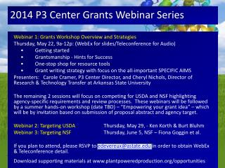 2014 P3 Center  Grants Webinar Series
