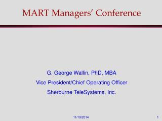 MART Managers' Conference