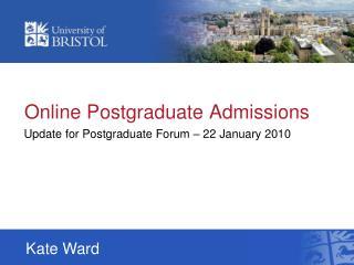 Online Postgraduate Admissions