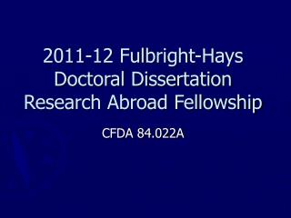 2005 Fulbright Hays Doctoral Dissertation Research Abroad ...