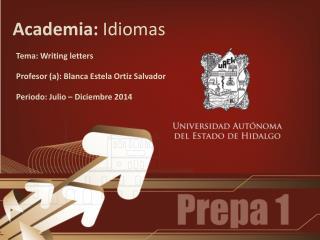 Academia:  Idiomas