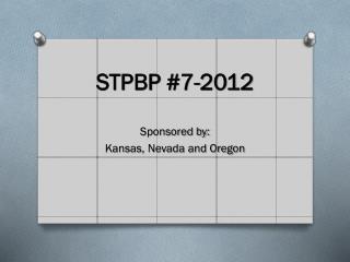 STPBP #7-2012