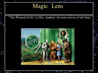 """The Wizard of Oz"" is Mrs. Andrus' favorite movie of all time!"