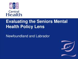 Evaluating the Seniors Mental Health Policy Lens