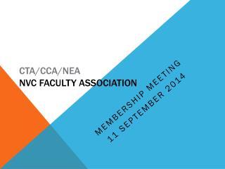 CTA/CCA/NEA NVC Faculty Association