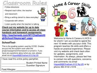 Home & Career Skills
