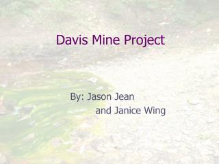 Davis Mine Project
