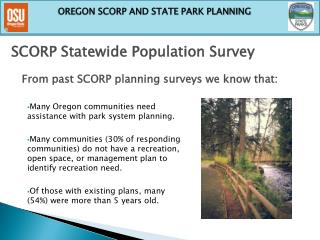 SCORP Statewide Population Survey