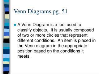 Venn Diagrams pg. 51