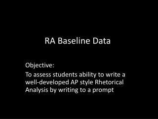 RA Baseline Data