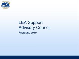LEA Support Advisory Council