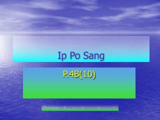 Ip Po Sang