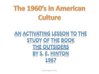 The  1960's in  American Culture