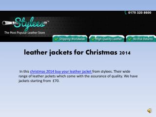 Leather jackets for Christmas 2014