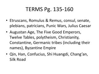 TERMS Pg. 135-160