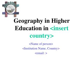 Geography in Higher Education in  <insert country>
