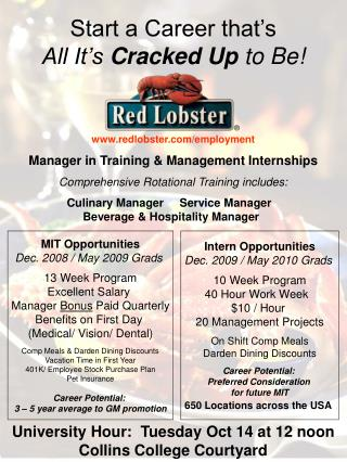 Start a Career that's                                  All It's  Cracked Up  to Be!