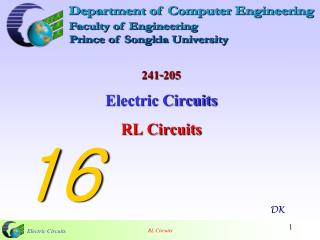 241-205 Electric Circuits  RL Circuits