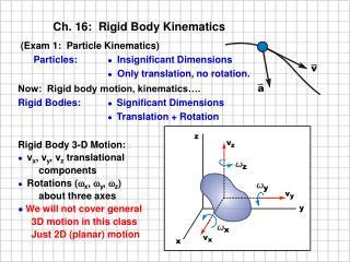 Ch. 16:  Rigid Body Kinematics