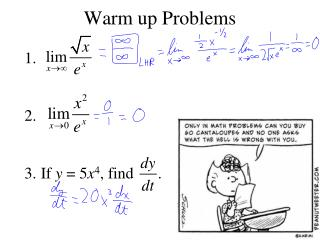 Warm up Problems
