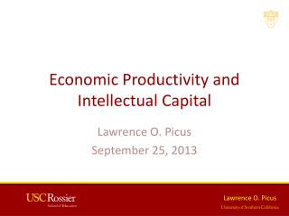 Economic Productivity and Intellectual Capital