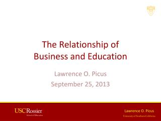 The Relationship of  Business and Education