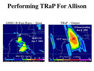 Performing TRaP For Allison