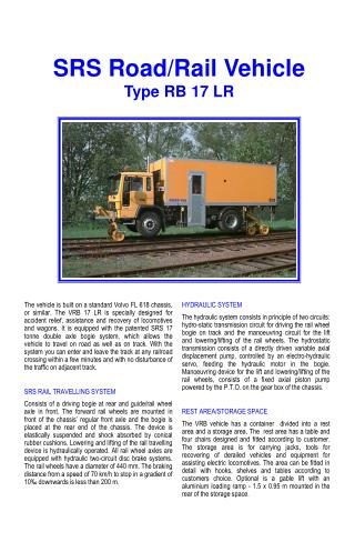 SRS Road/Rail Vehicle Type RB 17 LR