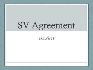 SV Agreement