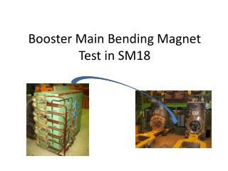 Booster Main Bending Magnet Test in SM18