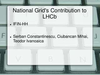 National Grid's Contribution to LHCb