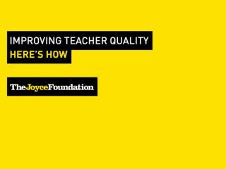 But how do we know who�s a good teacher?