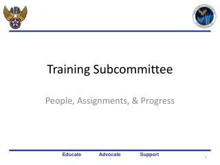 Training Subcommittee