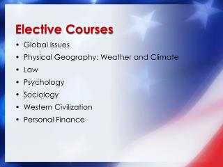 Elective Courses