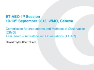 Stewart Taylor, Chair TT-AO