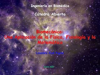 Ingenier a en Biom dica  C tedra Abierta