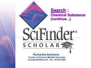 Search  : Chemical Substance  (continue ..)