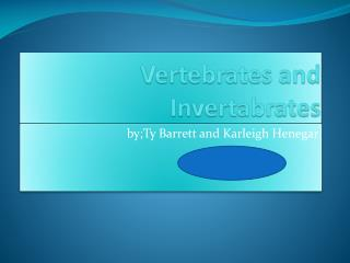 Vertebrates and  Invertabrates