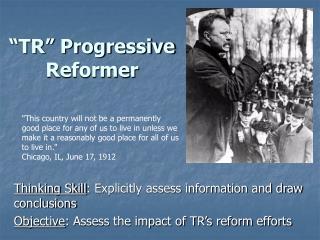 """TR"" Progressive Reformer"