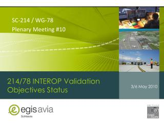 214/78 INTEROP Validation Objectives Status