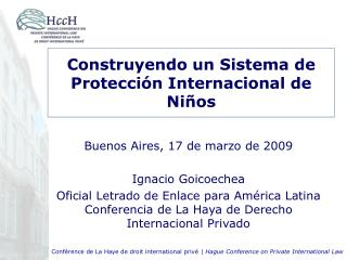 Construyendo un Sistema de Protecci n Internacional de Ni os