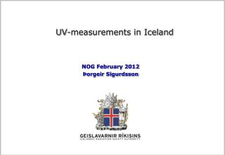 UV-measurements in Iceland