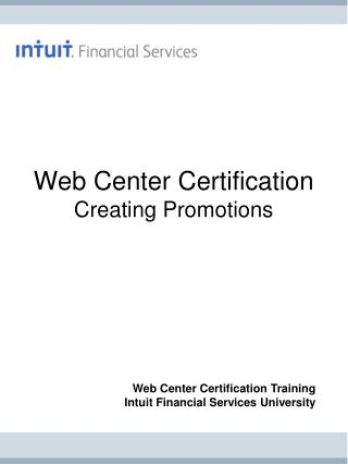 Web Center Certification Creating Promotions