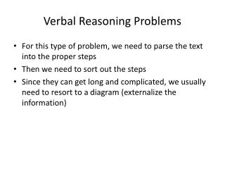 Verbal Reasoning Problems