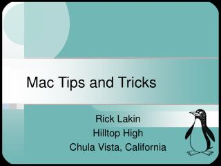 Mac Tips and Tricks
