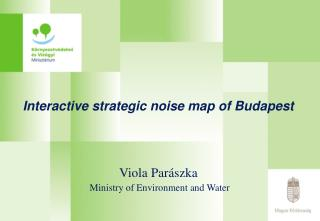 Interactive strategic noise map of Budapest