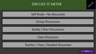 DISCUSS  'O' METER