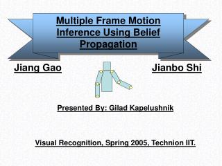 Multiple Frame Motion Inference Using Belief Propagation