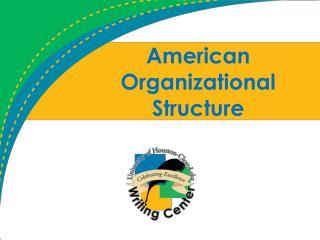 American Organizational Structure