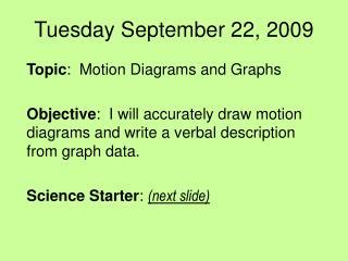 Tuesday September 22, 2009